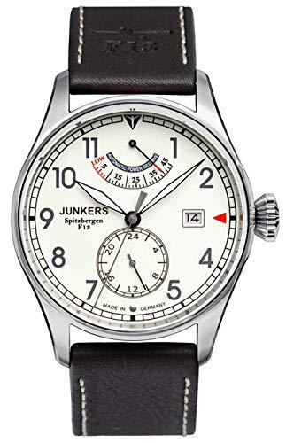 Junkers Spitzbergen F13 - Reloj de automático para Hombre, con Correa de Cuero, Color marrón