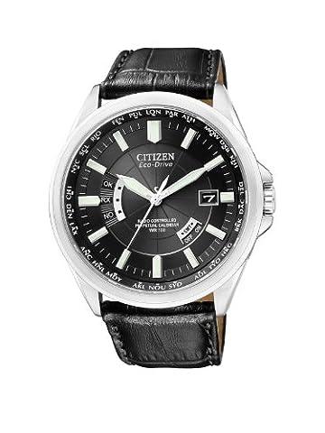 Citizen - CB0010-02E - Montre Homme - Quartz Analogique - Cadran - Bracelet Cuir Noir