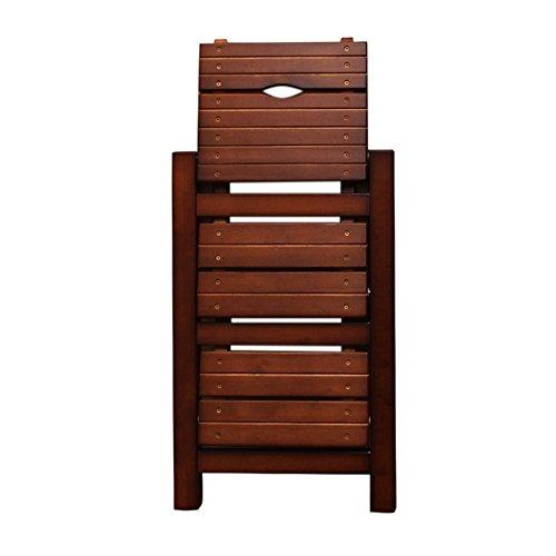 DEO Bureau d'ordinateur Chaise escamotable en bois d'échelle 3 escabeau pliant cuisine échelle antidérapante compacte 2 couleurs durable (Couleur : Marron)