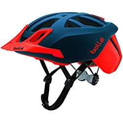 Bollé (CEBF5) 31597 Casco Ciclismo, Unisex Adulto, Azul Marino/Rojo, 58-62 cm