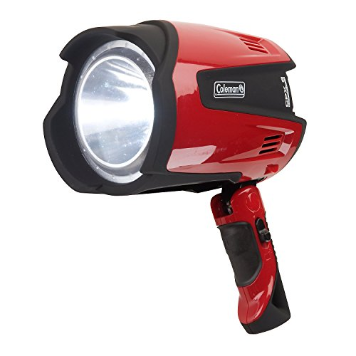 Campingaz Lampe CPX 6 Ultra High Power LED Spotlight, rot/schwarz (15,5 x 15,5 x 12 - Rot Coleman Taschenlampe