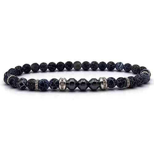 CMAO 6mm Perlen Armband Für Männer Design Kupfer Runde Stein Strang Charme Armbänder & Armreifen Für Männer Schmuck Geschenk,3 -