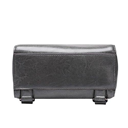 Valin Q0786 Damen Leder Handtaschen Top Handle Satchel Tote Taschen Schultertaschen,24x15x27 B x T x H (cm) Grau