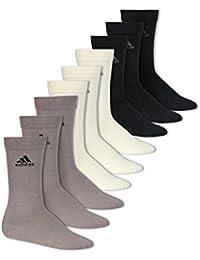 adidas - Calcetines de deporte - para hombre Negro Black/Bone/Aluminium Talla única