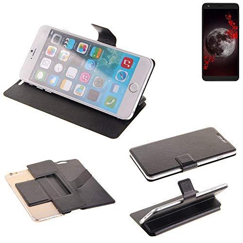 K-S-Trade Schutz Hülle für Sharp Aquos B10 Schutzhülle Flip Cover Handy Wallet Case Slim Handyhülle bookstyle schwarz