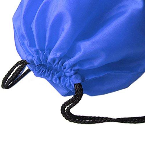 DDLBiz® Nylon Rucksackbeutel Sport Beach-Reisen im Freienrucksack Taschen,35cm x 41cm Blau