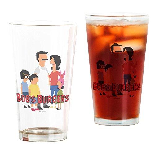 's Burger 8Bit–Pint-Glas, 16oz Trinkglas (Bob S Burgers)