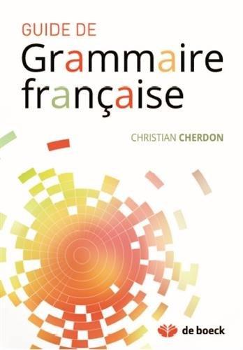 Guide de grammaire française