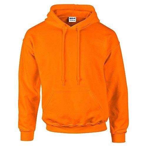 Gildan Heavyweight Blend (Gildan Dry Blend ® Adult Kapuzenpullover S,Sicherheit Orange)