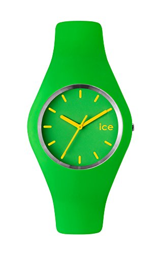 Ice-Watch Unisex Quartz Watch with Green Dial Analogue Display and Green Silicone Strap ICE.GN.U.S.12