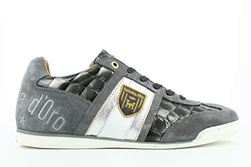 Pantofola d'Oro Imola Scudo Patent Uomo Low, Scarpe da Ginnastica Basse, Grigio (Castle Rock .6XW), 42 EU