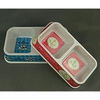 Juneping Comederos y bebederos Cuenco Cuadrado de melamina para Perros Cuenco Doble de Cuenco con Cuencos de Madera Cuenco de arroz Perrito (Aleatorio S)