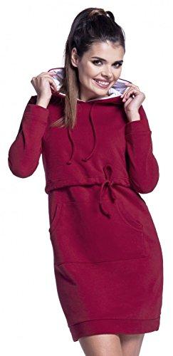Zeta Ville - Stillzeit Kapuzenpullover-Kleid Schwangere Langarm - Damen - 208c Purpur