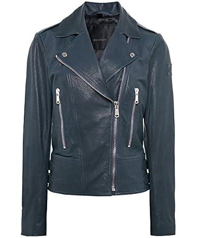 Belstaff Women's Leather Marving Jacket Green UK 10