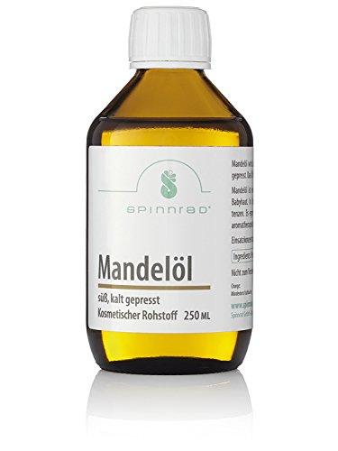 Spinnrad 2x 250ml Mandelöl I kaltgepresst hochwertig nativ I 100% Reinheit Vegan Naturprodukt I pflegendes Massage-Öl Körper-Öl I Feuchtigkeitsspender Haut Haar I Basisöl für alle Hauttypen -