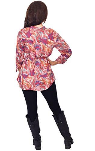 Nightingale Collection Damen Kleid Mehrfarbig Mehrfarbig Mehrfarbig - Leaves Multi
