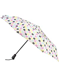 Totes X-tra Strong Automatic Wind Resistant Ladies Folding Umbrella - Big Paradise Dot