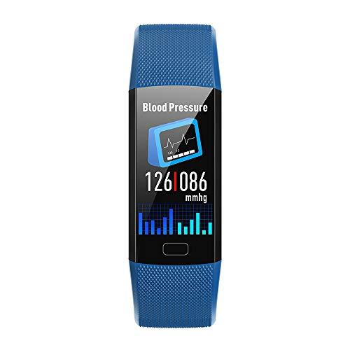 Yimiky Fitness Armband,Smartwatch 1.14 Zoll Uhr Wasserdichter Fitness Tracker Pulsmesser Blutdruck Blutsauerstoffuhr Sport Bluetooth Smartwatch Anruf SMS Erinnern für iPhone Samsung LG