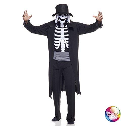 Unbekannt AEC-aq00821/L-Kostüm Skelett Dandy Erwachsene Größe L (50/52) (Englisch Dandy Kostüm)