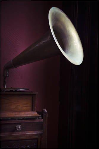 Holzbild 40 x 60 cm: Grammophon von Editors Choice