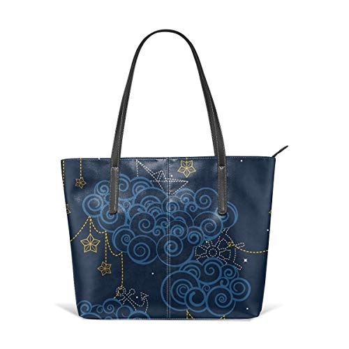 XGBags Custom Frauen Umhängetaschen Nautical Skies Leather Zipper Tote, Ladies Shoulder Bag, Shoulder Bag (Frauen Handtaschen Jessica Simpson)
