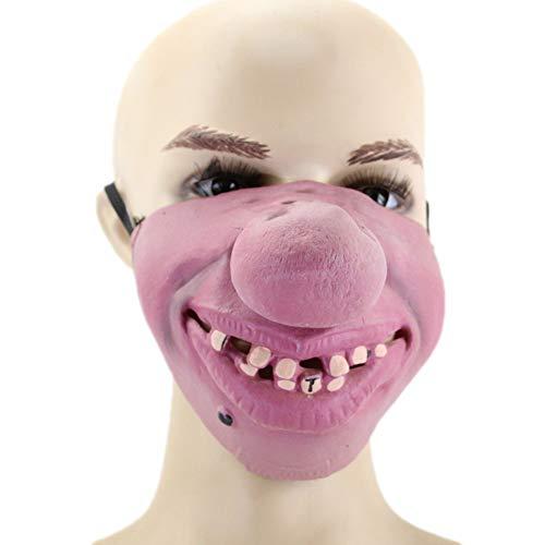 Halloween Kostüm Party Latex Lustige Halb-Gesicht-Maske,3 ()