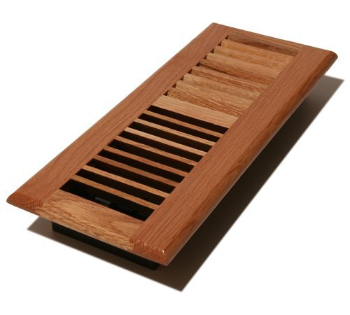 Decor Grates WL412-N Wood Louver Floor Register, Natural Oak, 4-Inch by 12-Inch by Decor Grates