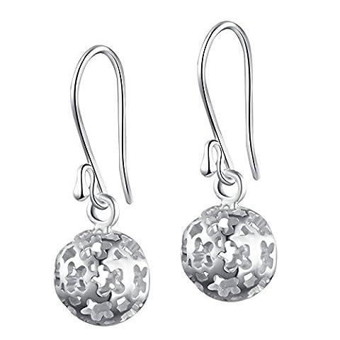 SILVERAGE Sterling Silver Fashion Elegant Hollow Drop