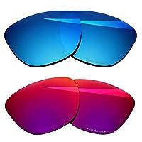 BlazerBuck Anti-salt Polarized Replacement Lenses for Oakley Frogskins - Burned Starry & Ice Blue