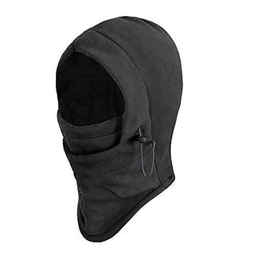SupplyEU 6 in 1 Thermal Fleece Balaclava Hood Police Swat Ski Bike Wind Stopper Face Mask