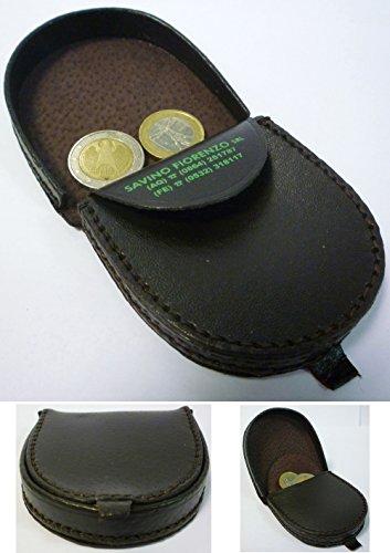 Portafoglio porta monete spicci banconote a tacco in vilpelle con tasca interna