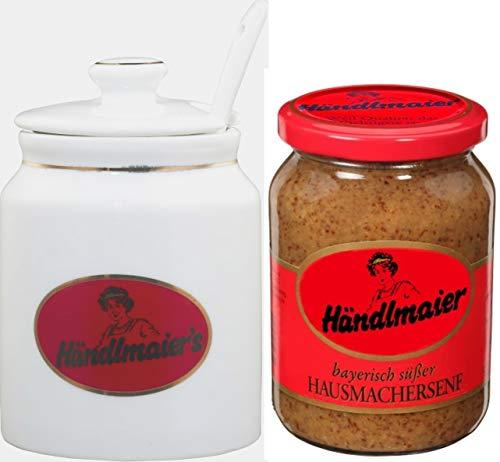 Händlmaier Hausmacher Senf süß 335ml und Senftopf Set