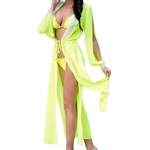 TianWlio Damen Dessous Sexy Spitze mit Kapuze Bikini Vertuschen Badebekleidung Badeanzug Sommer Strandkleid