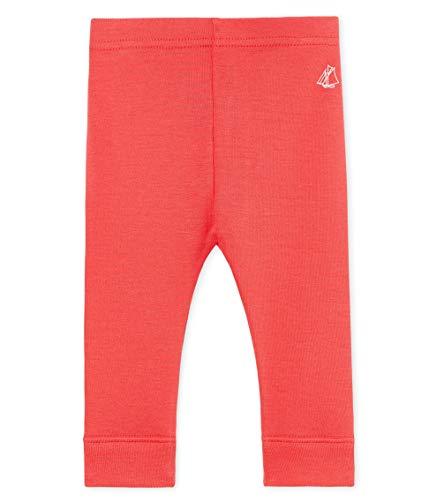 Petit Bateau Baby - Mädchen Leggings 4852018, Pink (Groseille 18), 80 (Herstellergröße: 12M/74cm) - Petite Hose Hosen