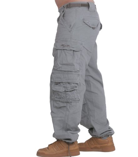 007 Était modèle jET pantalon pour homme cargo pantalon cargo verschiendene couleurs (gris foncé) avec f524 camo pour clés - Gas Grey