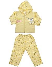MYFAA Babies' Polyfill Hooded Top & Pyjama Set