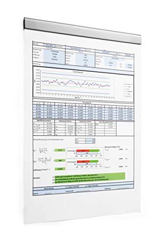 Durable 470623 Klemmleiste Durafix Rail (210 mm, selbstklebende Leiste zum magnetischen Einklemmen von Dokumenten A4 hoch / A5 quer) Beutel à 5 Stück silber