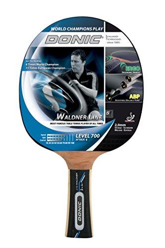Donic-Schildkröt Tischtennis Schläger Waldner 700 mit ABP Technologie und ERGO Griff, Holz/Natur, One Size, 754872