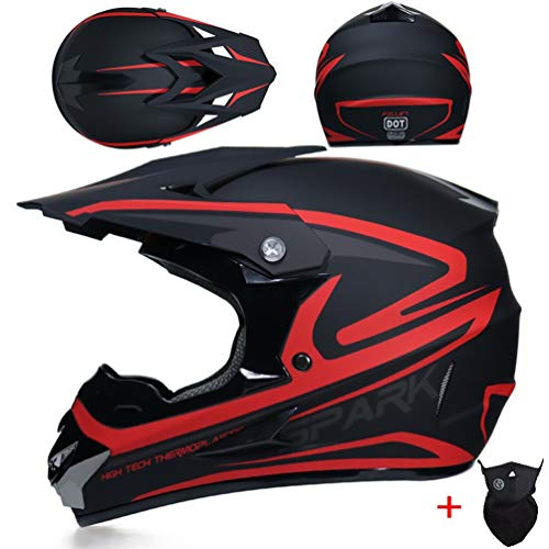 Off Road caschi da moto adolescenti adulti antiurto luce integrale moto motocross casco downhill corsa mountain bike tappi di sicurezza in tutte le stagioni