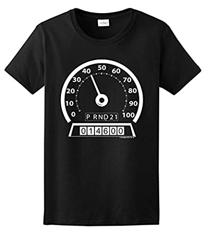 40th Birthday Gifts For All Days Lived Speedometer Ladies T-Shirt XXX-Large Violet