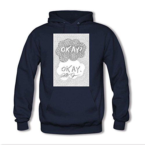 HGLee Printed DIY Custom okay okay Women's Hoodie Hooded Sweatshirt Navy--2