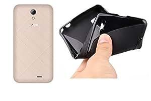 Intex Aqua Y4 Magic Brand S-Line Black Soft Silicon Back Cover Case