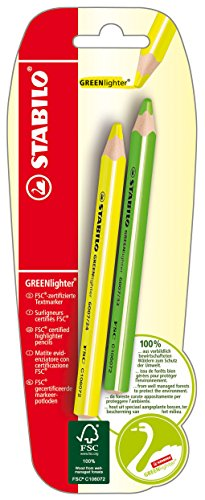 stabilo-greenlighter-amarillo-verde-blister-2er-eve-resaltador-certificada