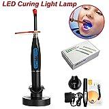 GXJ Lampe à polymériser Dentaire avec Double lumières sans Fil 5w - 2000mW / cm2 - Noir
