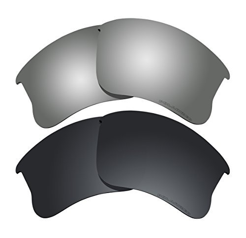 Polarized Lens Replacement Fit for Oakley Flak Jacket XLJ Sunglass 2 Pairs of Lenses Pack N18 by BVANQ