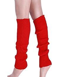 Femmes en Tricot Jambe Chaussettes, Reaso Pure Colour Boot Cuffs Warmer Knit Leg Bas