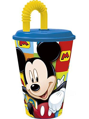 mickey mouse, la tige de verre. paille verre. produit en matière plastique. pas bpa. capacité 430 millilitres