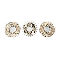 Idea Regalo - Casa D'Or Set di 3specchi Parete Decorazioni Oro