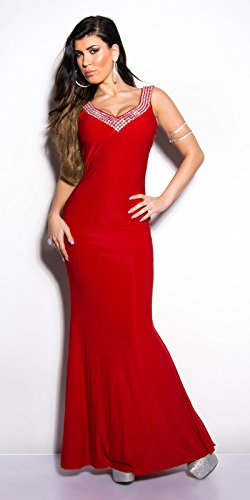 In-Stylefashion - Robe - Femme Rose Rose Rouge - Rouge