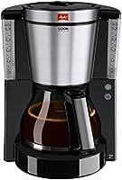 Melitta 1011-06 Look de Luxe Kaffeefiltermaschine -Aromaselector -Tropfstopp schwarz/edelstahl